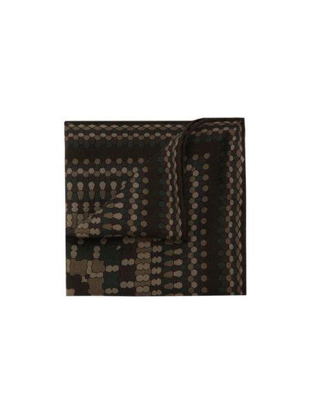 Шерстяной коричневый платок Brioni