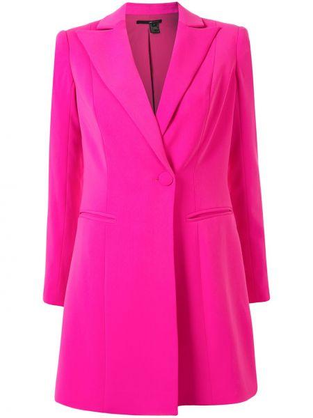 Розовое платье мини с лацканами с длинными рукавами с карманами Jay Godfrey