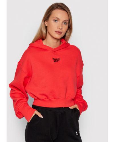 Bluza oversize - czerwona Reebok Classic