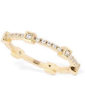 Biały złoty pierścionek z cyrkoniami Camila Carril