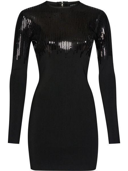 Платье с пайетками - черное David Koma