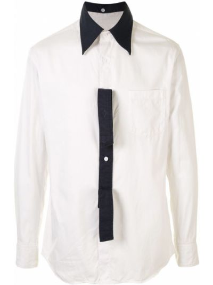 С рукавами белая рубашка на пуговицах с карманами Yohji Yamamoto Pre-owned