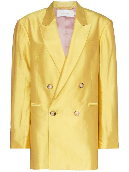 Желтый пиджак с манжетами Marques'almeida