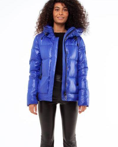 Стеганая куртка - синяя Visdeer