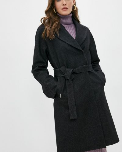 Черное демисезонное пальто Shartrez