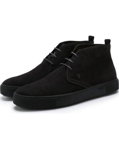 Ботинки на шнуровке кожаные высокие Tods