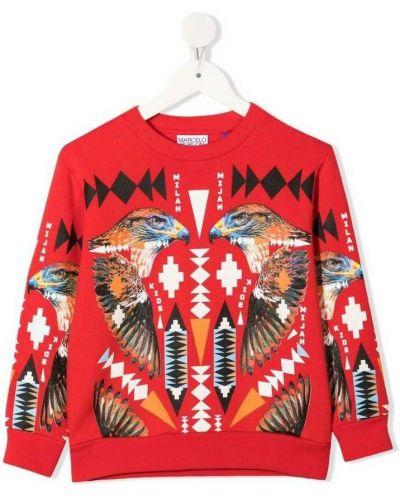 Czerwony sweter Marcelo Burlon