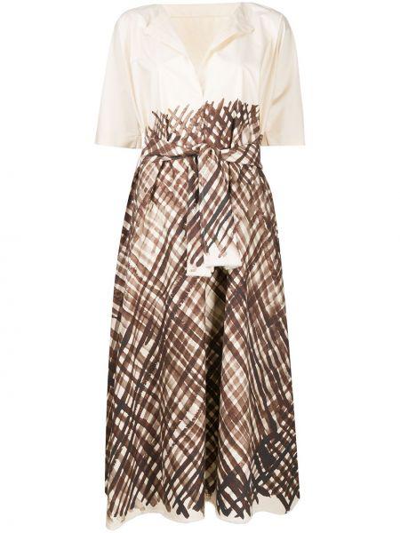 Свободное платье мини с рисунком свободного кроя с короткими рукавами Daniela Gregis