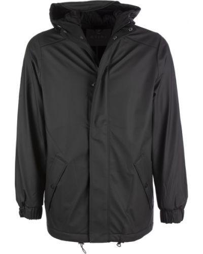Czarny płaszcz z kapturem Rains
