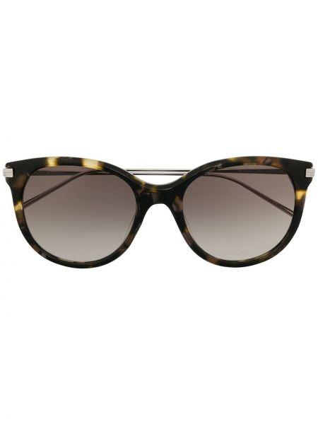 Коричневые солнцезащитные очки металлические Boucheron Eyewear