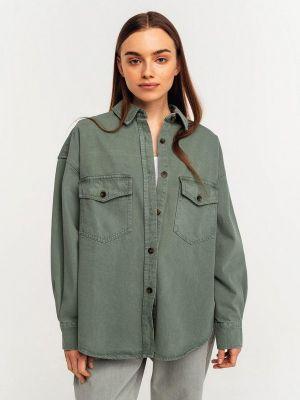 Джинсовая рубашка - зеленая Befree
