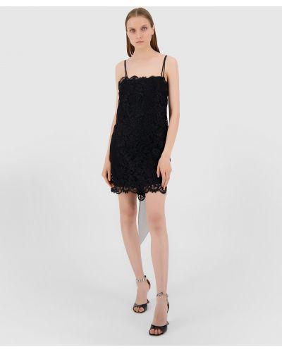 Черное платье мини Ermanno Scervino