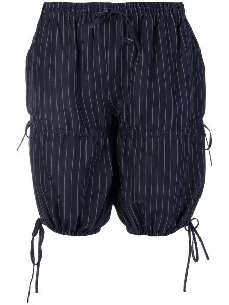 Синие хлопковые шорты с карманами Jean Paul Gaultier Pre-owned