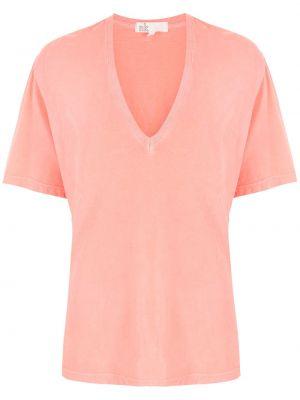Оранжевая футболка с V-образным вырезом НК