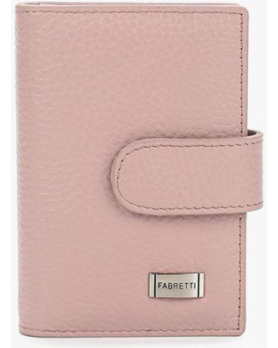 Розовая визитница Fabretti