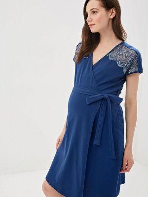 Домашний халат - синий Hunny Mammy