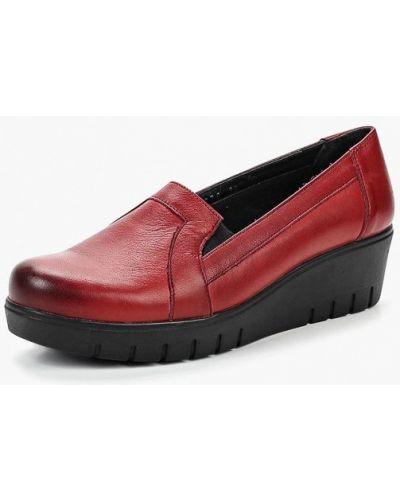 Кожаные туфли осенние закрытые на каблуке Alessio Nesca