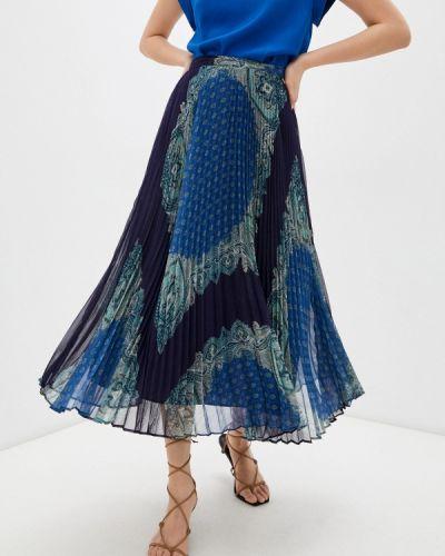 Синяя плиссированная юбка Twinset Milano