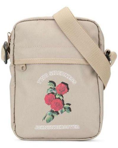 Коричневая мерцающая сумка через плечо Johnundercover