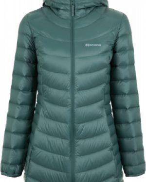 Приталенная зеленая нейлоновая куртка с капюшоном на молнии Outventure
