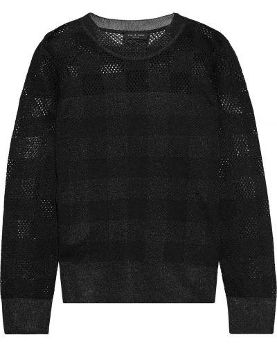 Prążkowany czarny sweter wełniany Rag & Bone