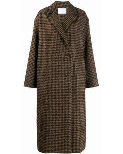Длинное пальто с капюшоном на пуговицах Société Anonyme