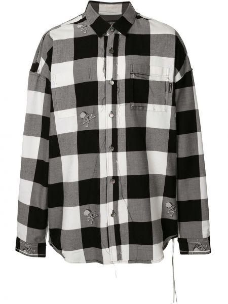 Koszula z długim rękawem długa czarny i biały Mastermind World