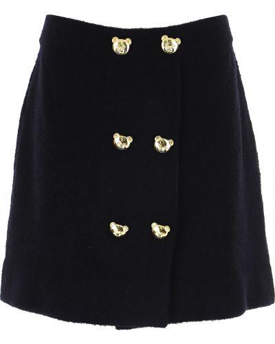 Czarna spódnica zimowa Moschino