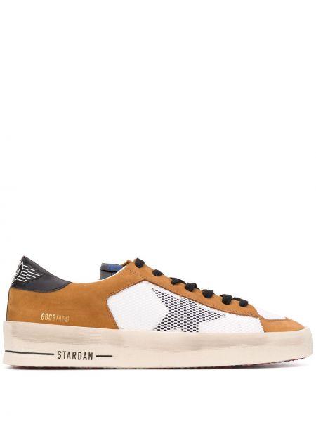 Ażurowy czarny włókienniczy sneakersy z siatką Golden Goose