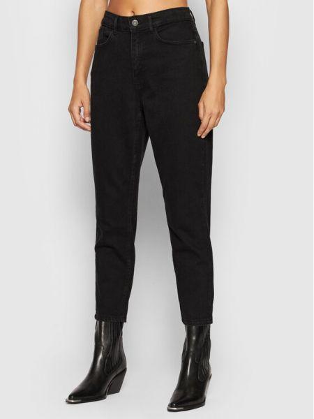 Czarne mom jeans Noisy May