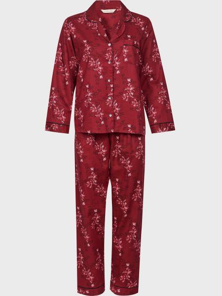 Хлопковая красная пижамная пижама на пуговицах Nora Rose