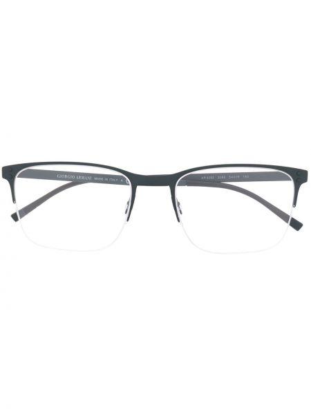 Oprawka do okularów metal plac khaki wytłoczony Giorgio Armani