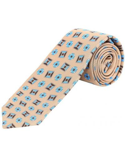 Beżowy krawat Kiton