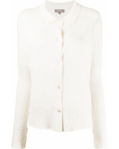 Biały klasyczny sweter N.peal