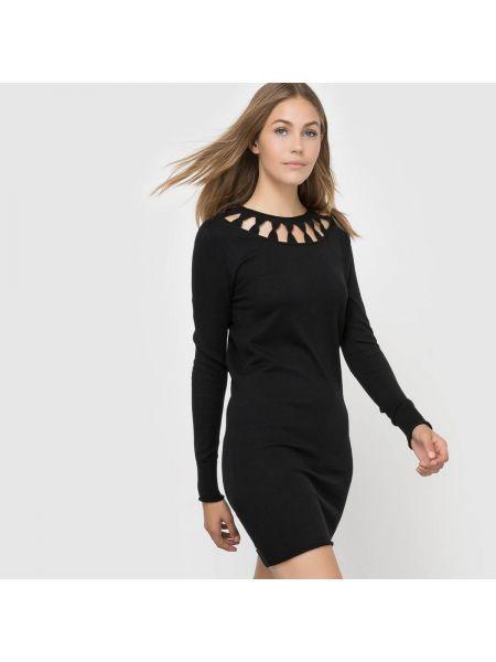 Платье мини с длинными рукавами трикотажное French Connection