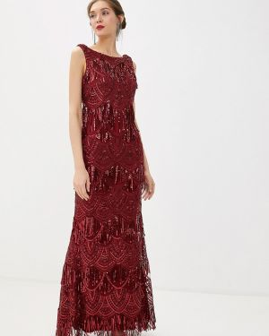 Бордовое вечернее платье Goddiva