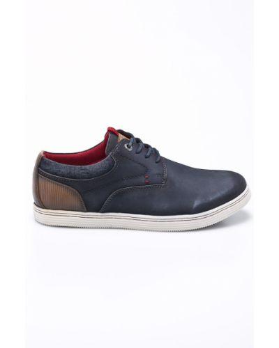 Кожаные туфли на шнуровке текстильные S.oliver