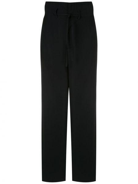 Черные свободные брюки с карманами свободного кроя на пуговицах Uma   Raquel Davidowicz