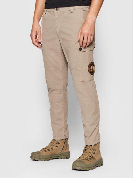 Beżowe spodnie materiałowe Aeronautica Militare