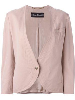 Розовый пиджак с манжетами Louis Feraud Pre-owned