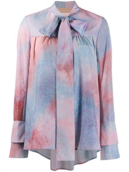 Блузка с длинным рукавом в полоску батник Ssheena