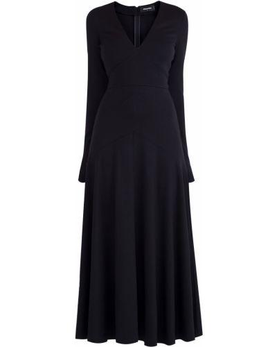 Платье миди с V-образным вырезом с длинными рукавами Dsquared2