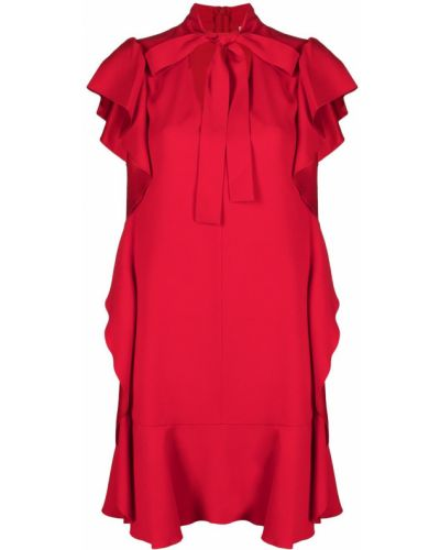 Красное платье мини трапеция без рукавов Red Valentino