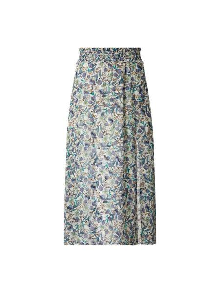 Niebieska spódnica maxi rozkloszowana z wiskozy Dante 6