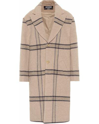 Beżowy płaszcz wełniany Jacquemus