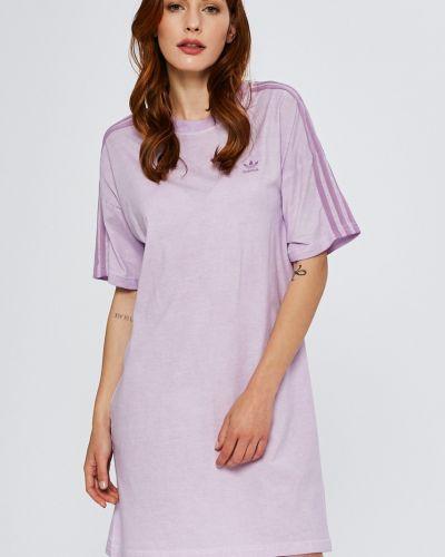 Платье мини однотонное свободного кроя Adidas Originals