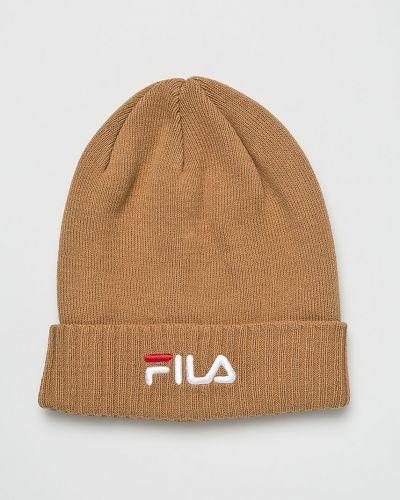 Зимняя шапка с отворотом из джерси Fila