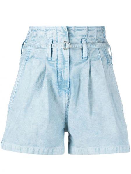 Хлопковые с завышенной талией джинсовые шорты с карманами Iro