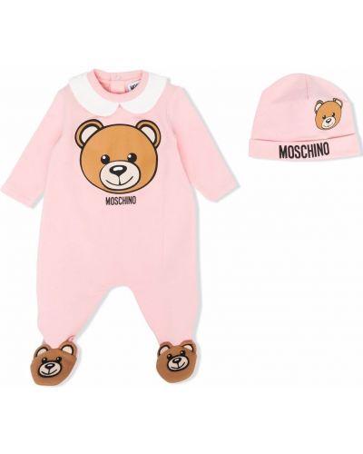 Różowa klasyczna piżama Moschino Kids