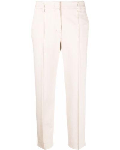 Beżowe spodnie z wysokim stanem z wiskozy Dorothee Schumacher